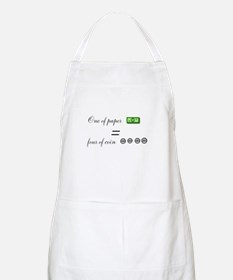 one of paper equals four of coin Apron