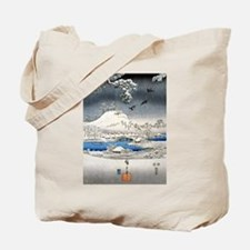 Viewing the Snow (center) Tote Bag