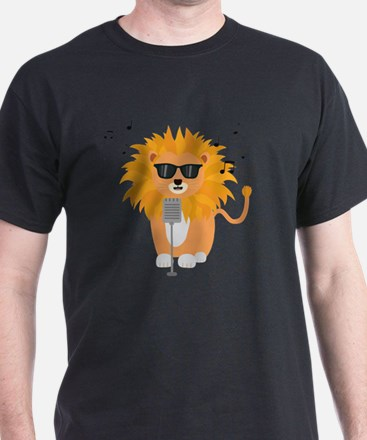 Cool music lion T-Shirt