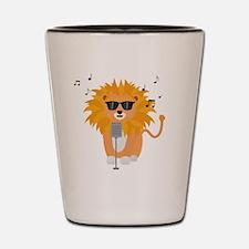 Cool music lion Shot Glass