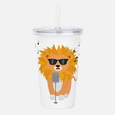 Cool music lion Acrylic Double-wall Tumbler