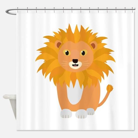 Cute happy Lion Shower Curtain