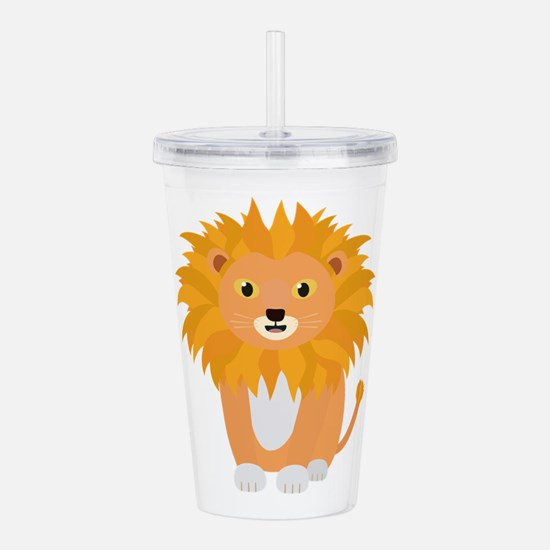 Cute happy Lion Acrylic Double-wall Tumbler