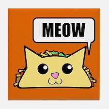 Taco Cat Meow OBG Tile Coaster