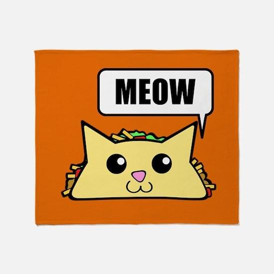 Taco Cat Meow OBG Throw Blanket