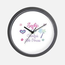 Sophia - Grandpa's Little Pri Wall Clock
