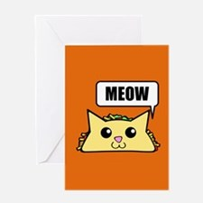 Taco Cat Meow OBG Greeting Cards