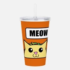 Taco Cat Meow OBG Acrylic Double-wall Tumbler