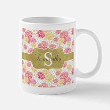 Shabby Chic Floral Monogram Mugs