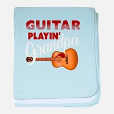 Funny Guitars baby blanket