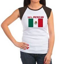 50 PERCENT MEXICAN Women's Cap Sleeve T-Shirt