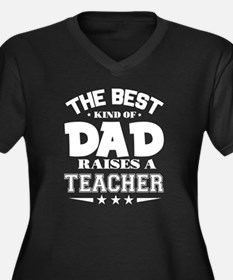 Cute New dad father%27s day Women's Plus Size V-Neck Dark T-Shirt