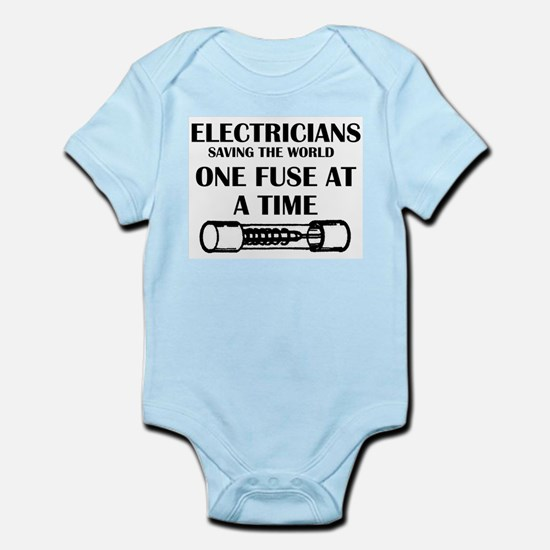 electricians saving the world sparky fun Body Suit