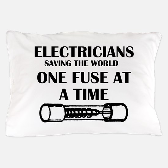 electricians saving the world sparky f Pillow Case