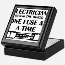 electricians saving the world sparky Keepsake Box