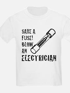 save a fuse blow an electrician funny spar T-Shirt