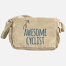 Awesome cyclist Messenger Bag