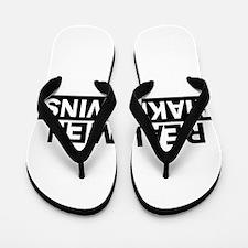 Real Men Make Twins Funny Flip Flops