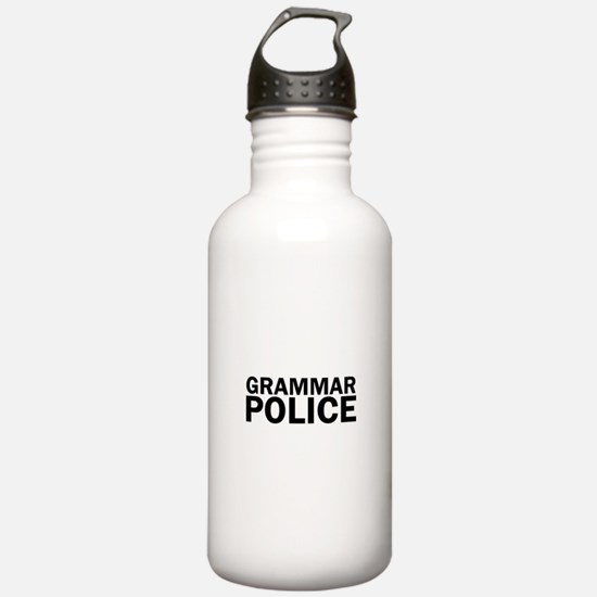 Grammar Police Funny C Water Bottle