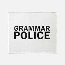Grammar Police Funny Cute Throw Blanket