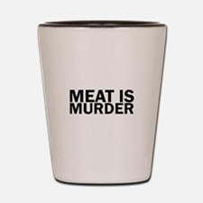 Meat Is Murder Vegetarian Vegan Bold Shot Glass