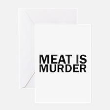 Meat Is Murder Vegetarian Vegan Bol Greeting Cards