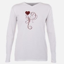 Red Glitter Heart T-Shirt