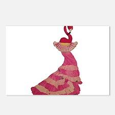 Flamingo Flamenco Postcards (Package of 8)