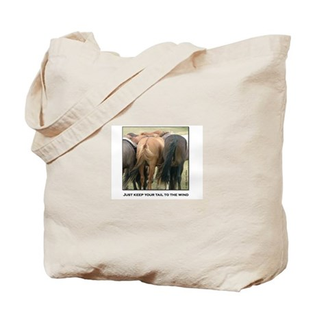 Just Keep Your Tail to the Wi Tote Bag