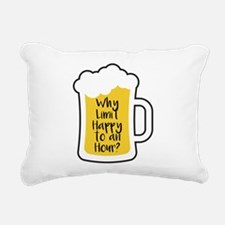 Limit Happy Hour Rectangular Canvas Pillow