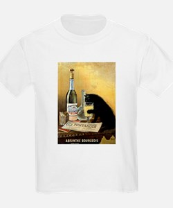 """Vintage Retro French Poster """"Absinthe Bour T-Shirt"""