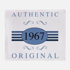 Authentic 1967 Birthday Throw Blanket