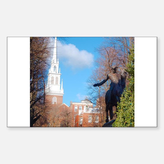 Paul Revere Sticker (Rectangle)