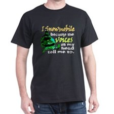 Voices in my head - snowmobile T-Shirt