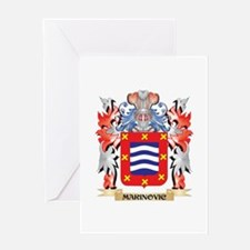 Marinovic Coat of Arms - Family Cre Greeting Cards