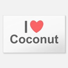 Coconut Sticker (Rectangle)