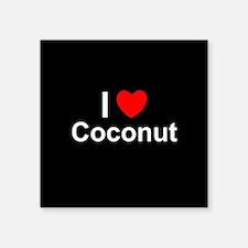 """Coconut Square Sticker 3"""" x 3"""""""
