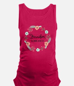 Personalized Floral Wreath Tank Top