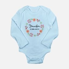 Personalized Floral Wreath Body Suit