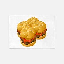 BBQ Sandwiches 5'x7'Area Rug