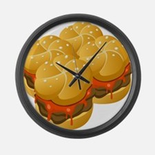 BBQ Sandwiches Large Wall Clock