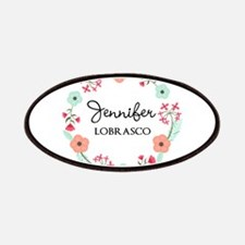Personalized Floral Wreath Patch