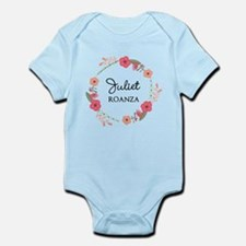 Flower Wreath Name Monogram Body Suit