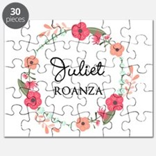 Flower Wreath Name Monogram Puzzle