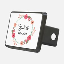 Flower Wreath Name Monogram Hitch Cover