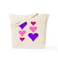6 Colorful Hearts Tote Bag