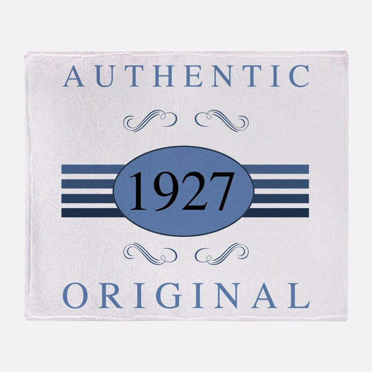 Authentic 1927 Birthday Throw Blanket