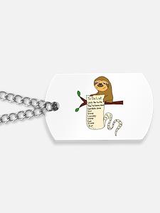 Unique Sloth Dog Tags