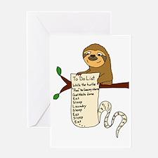 Cute Sloth Greeting Card