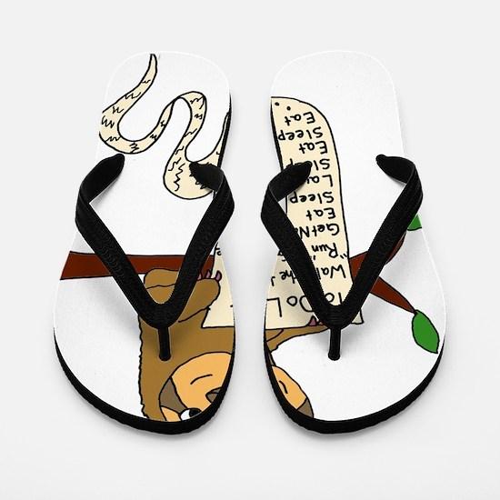 Cute Sloth Flip Flops